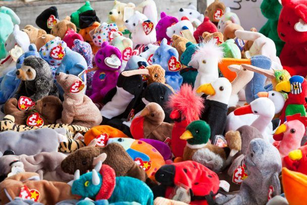 They're cute and cuddly. The Beanie Babies were a collector's item. We probably told our parents that they would be worth a lot of money in the future.
