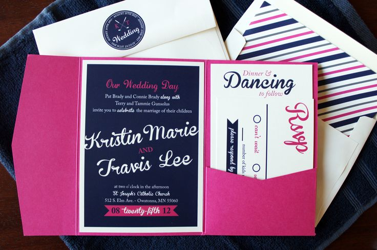Pink And Navy Blue Wedding Invitations: 25+ Best Ideas About Fuschia Wedding On Pinterest
