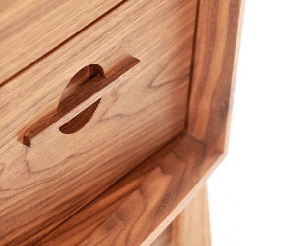 Excellent handle detail. Simple design for chest of drawers