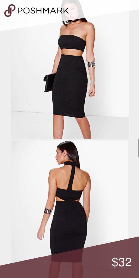 Bandeau choker dress new in packaging. Dresses Midi