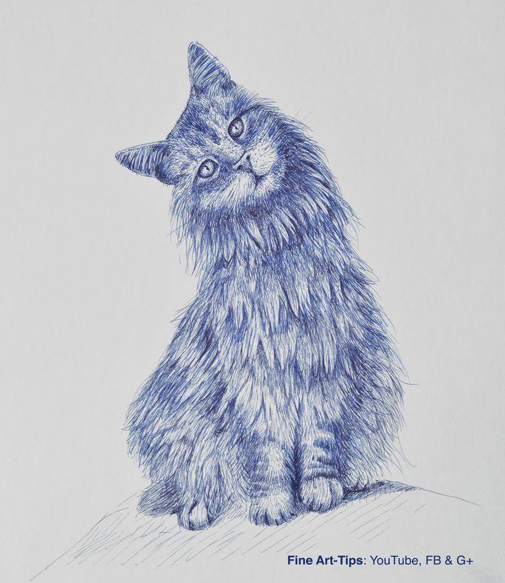 How to Draw a Cat With Fountain Pen #art #drawing #FineArtTips #cat #tutorial #Patreon #artistleonardo #LeonardoPereznieto #fountainpen Take a look to my book here: http://www.artistleonardo.com/#!ebooks-english/cswd