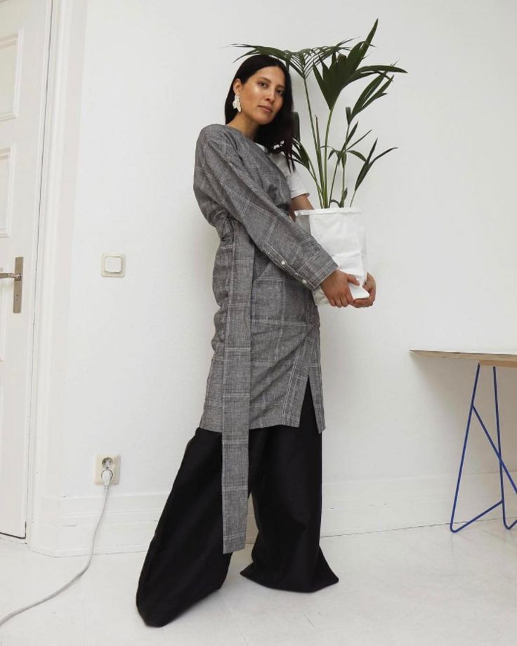Elinor Nystedt in Single Dress &  Mass Trouser https://www.instagram.com/p/BT8Q7jblhZF/?taken-by=hopestockholm