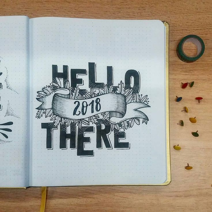 Bullet journal yearly cover page. @50drog