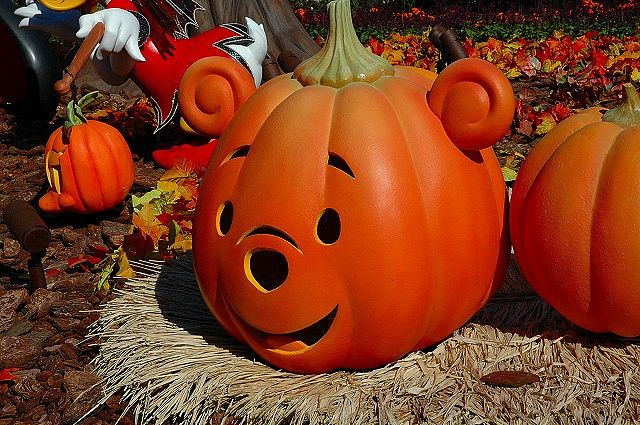 Winnie the Pooh pumpkin at Disney World
