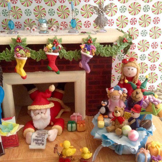 M s de 1000 im genes sobre pasta en pinterest arcilla de - Chimeneas decoradas para navidad ...