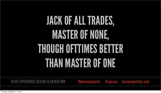 a jack of all trades full saying - Google Search