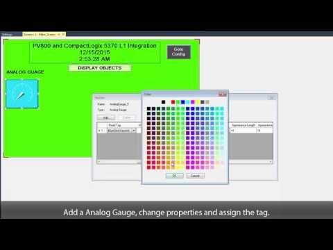 230) PanelView 800 Graphic Terminal - How to Create HMI