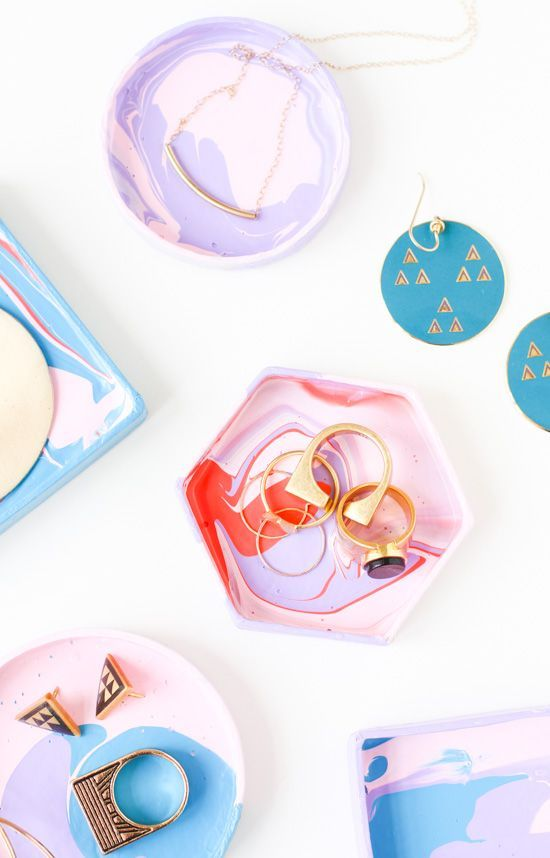 5 Minute DIY: How to Make a Mini Jewelry Dish with a Box Lid - Paper and Stitch