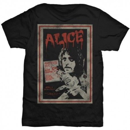 Tricou Alice Cooper: Vintage Poster