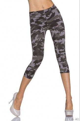 Κάπρι στρατιωτικό leggings - Καμουφλάζ