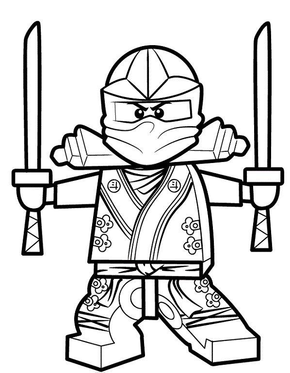 Coloriage et dessin de Ninjago à imprimer - Coloriage ninja vert ...