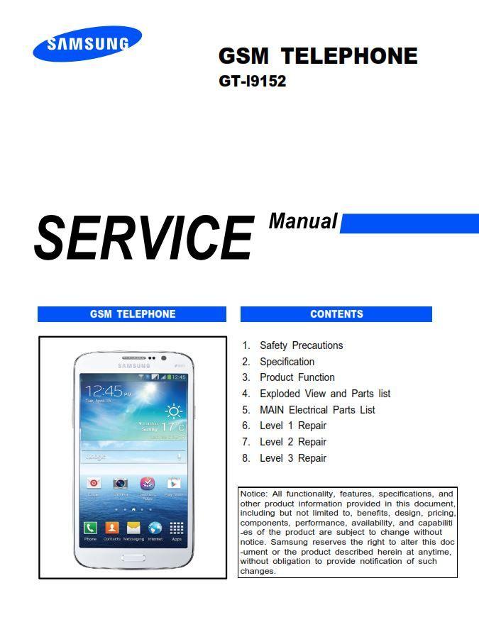 Samsung Galaxy Mega 5 8 Gt I9152 Service Manual Repair Guide Repair Guide Samsung Galaxy Repair