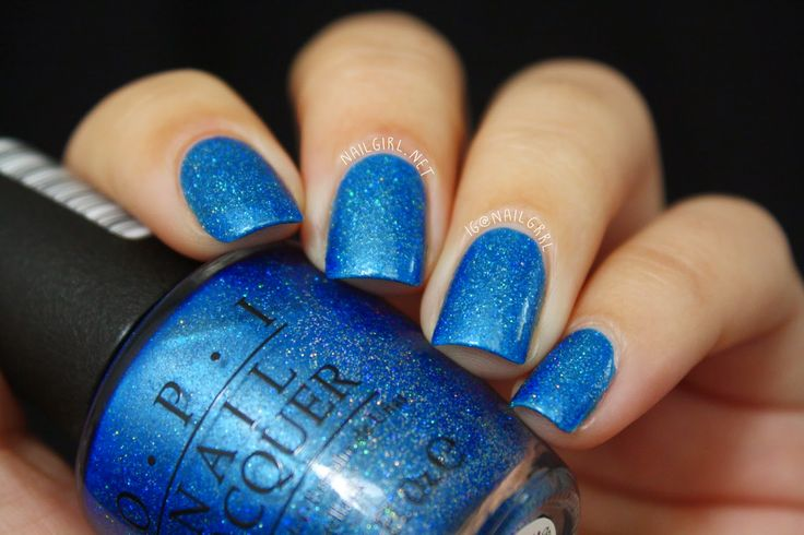 Nail Girl: Swatch & Review: OPI Blue Chips (AKA The Flowers are Blue-Ming)