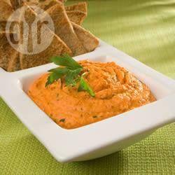 Pittig geroosterde rode paprika hummus @ allrecipes.nl