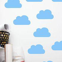 naklejki chmurki błękitne, pokój dziecka - naklejki ścienne