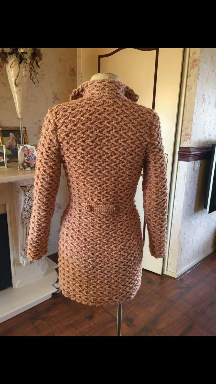 Gratis patroon van creachick. Haak jeceifen jas. royal van de zeeman dubbel draads voor deze maat 36 heb ik 16 bollen gebruikt