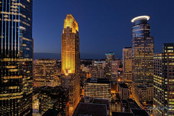 Herrlicher Blick über Minneapolis auf Ihrem Desktop