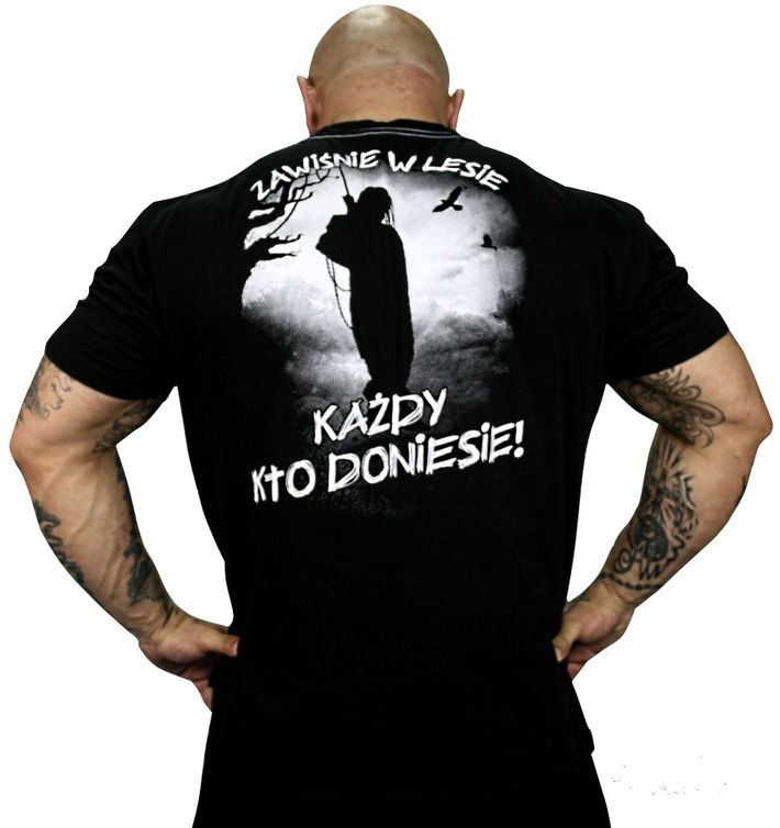 Koszulka 'Vendetta' - tył ---> Streetwear shop: odzież uliczna, kibicowska i patriotyczna / Przepnij Pina!