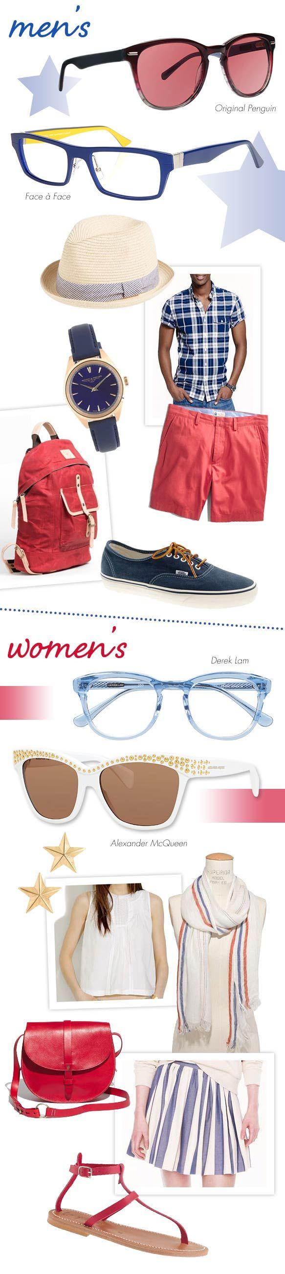 Specs, Shades + Garb for Patriotic Style: http://eyecessorizeblog.com/?p=5966