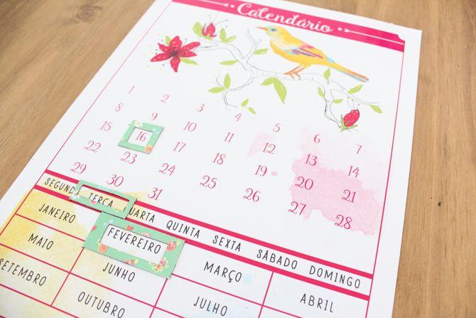 calendario para geladeira 2