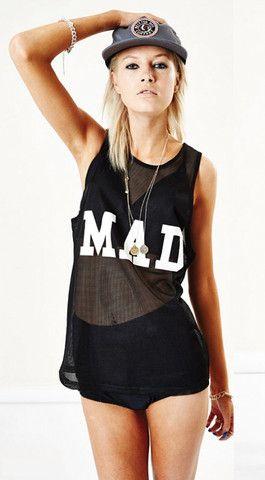 Mad Love mesh singlet - www.nuesociety.com