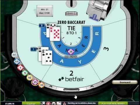 ZERO Baccarat FREE Betfair Online Live Mobile Arcade Casino Games Bonus ...