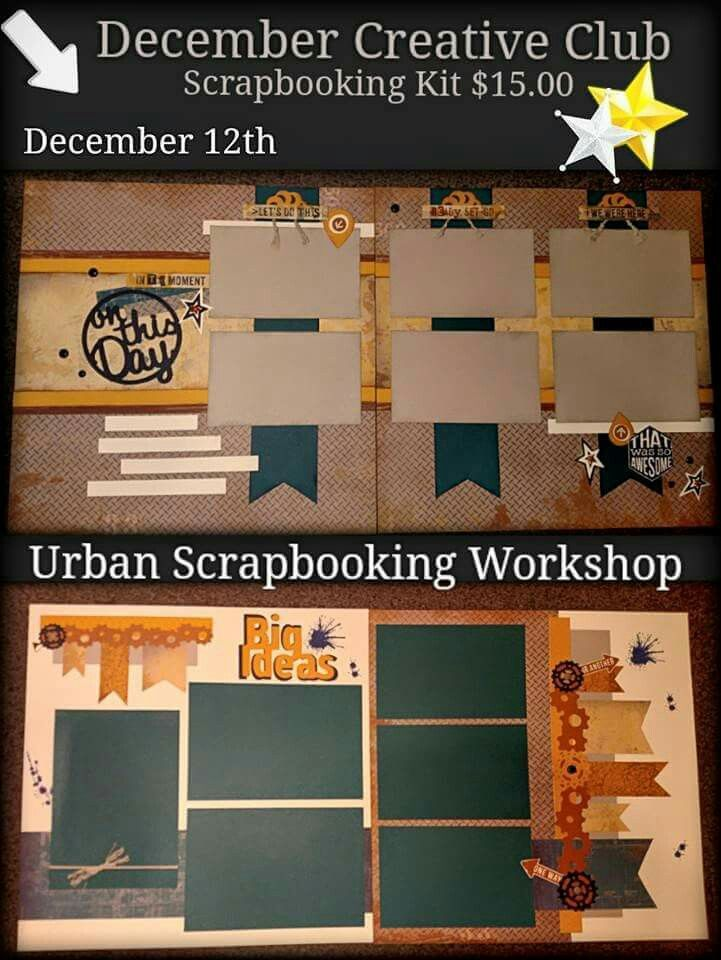 CTMH Urban Workshop. This workshop uses some wonderful Artbooking Cricut cuts and background stamping. . Guides are available for $5.  www.MissCarrie.ctmh.com
