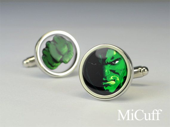 Hulk cuff links