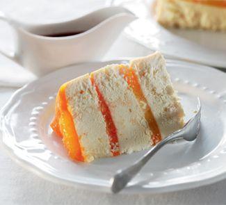 Творожная пасха с апельсиновым желе и соусом из кагора