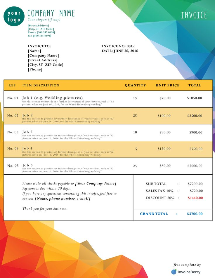 Beautiful Klempner Invoice Template Ensign - FORTSETZUNG ...