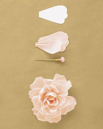 Peony crepe paper flowers tutorial from Martha Stewart.