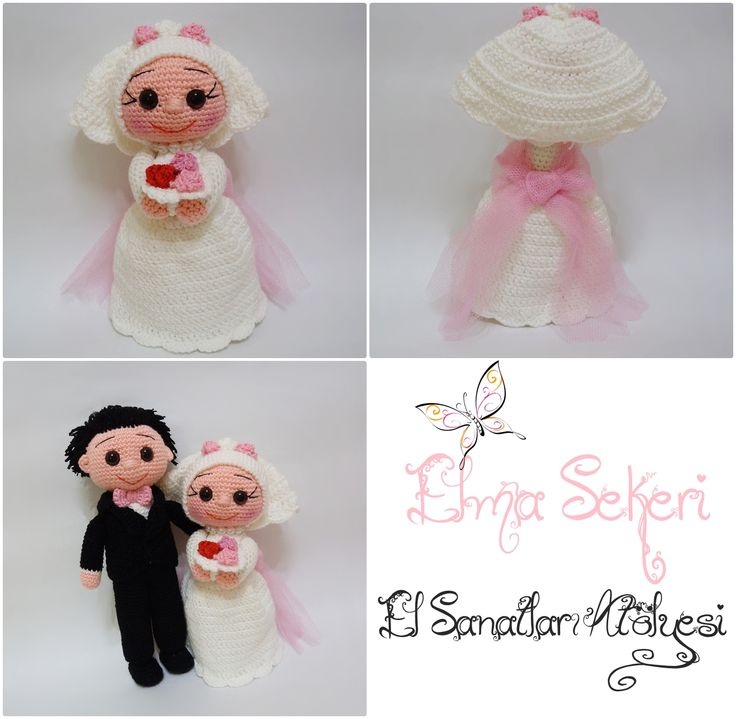 Amigurumi gelin damat / just married dolls