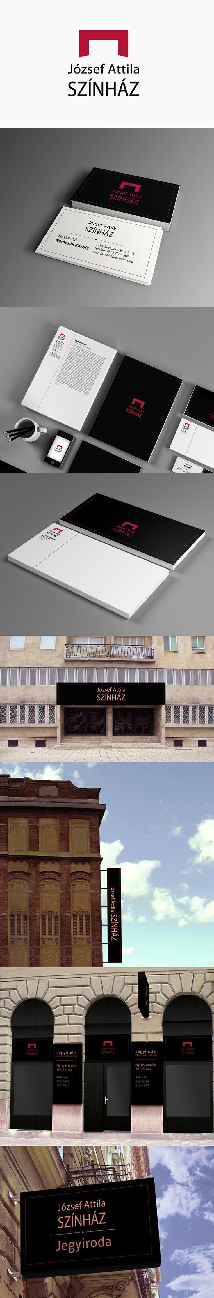szinház - theater branding
