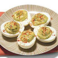 When Kelly Rowe makes deviled eggs, he uses his mothers traditional    recipe. In a nod to his home state of California, Kelly sometimes stirs    in a little Philippes hot mustard.