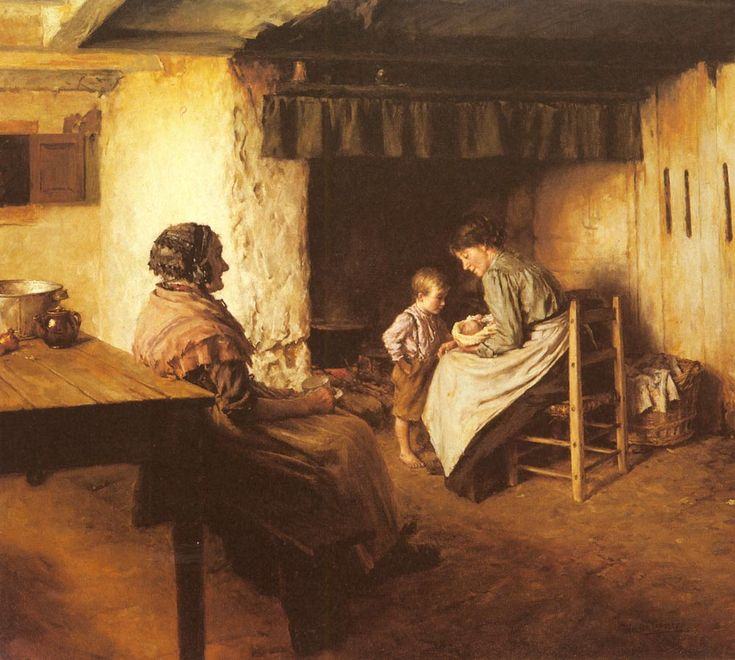 The New Arrival by Walter Langley  - Newlyn School of Art.
