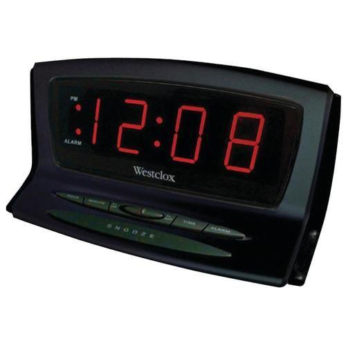 WESTCLOX 70012BK Instant-Set LED Alarm Clock - NYL70012BK