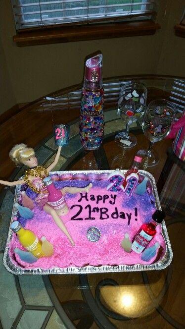 21st Birthday Drunk Barbie Cake
