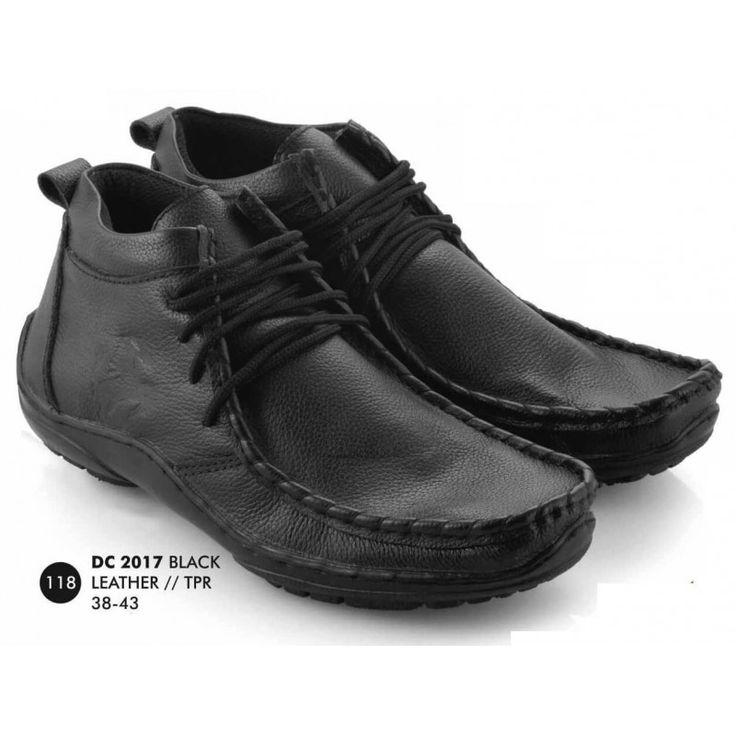 SEPATU BOOT KULIT EVERFLOW BLACK