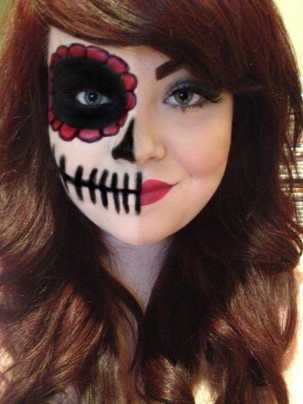 Sugar Skull Halloween look.