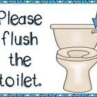This file includes cute signs for bathroom procedures.  ...