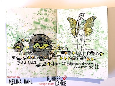 * Rubber Dance Blog *: Dare, art journal play with video tutorial