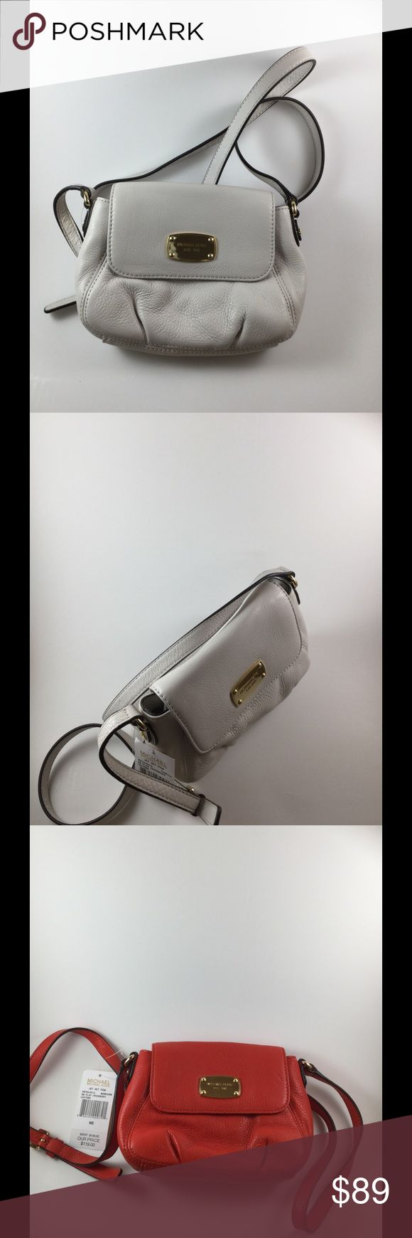 Micheal Kors Jetset Crossbody Bag Micheal Kors Jetset Small Flap Leather Crossbody Bag, NWT. Two Available , Colors Red and White Michael Kors Bags Crossbody Bags