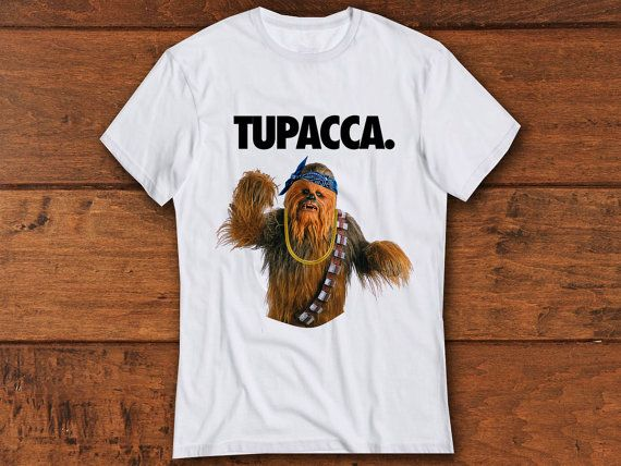 TUPACCA shirt . wookie shirt . funny meme by AUGMENTCLOTHING