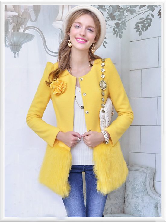 Morpheus Boutique  - Yellow Hair Ruffle Long Sleeve Button Down Sweater Jacket