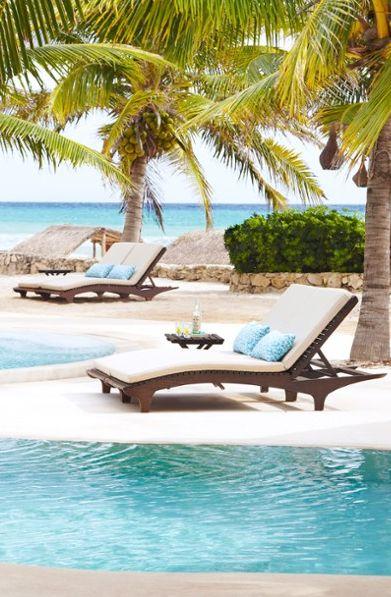 On a long, sandy beach facing the Caribbean, the Viceroy Riviera Maya