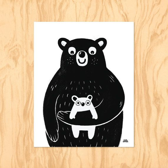 MUMMA BEAR : Printable Art Nursery Art Kids Wall by LittleKipper
