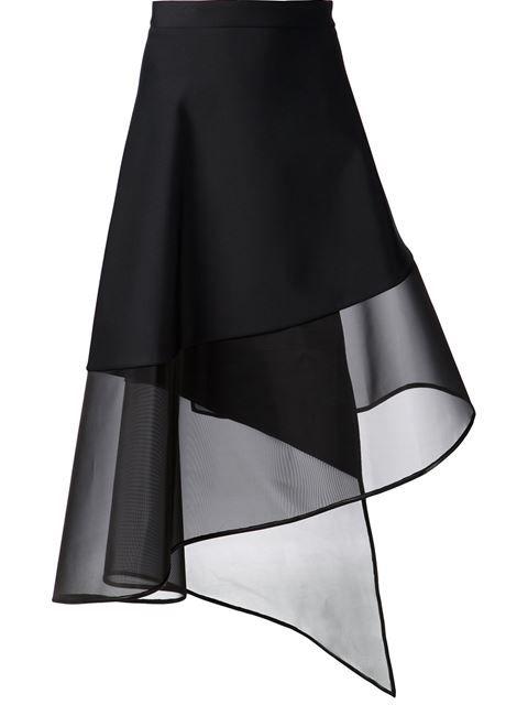 David Koma Sheer Hem A-line Wrap Skirt - Bonvicini - Farfetch.com