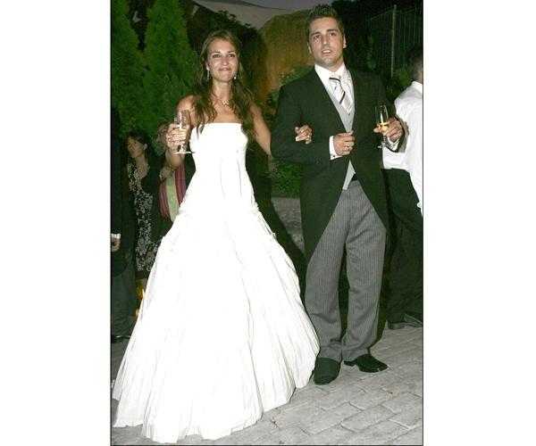 Paula Echevarria + David Bustamante. Vestido banquete