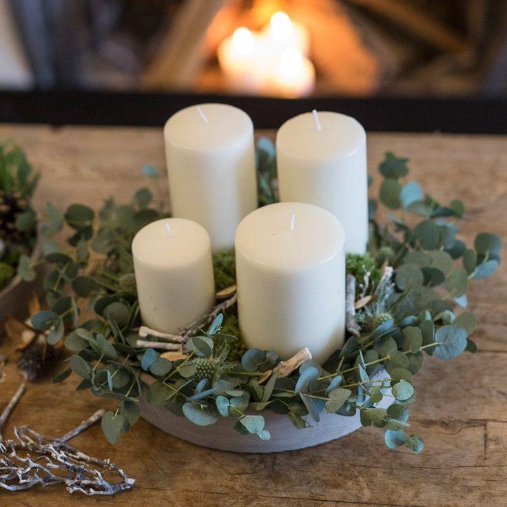 Advent wreath DIY