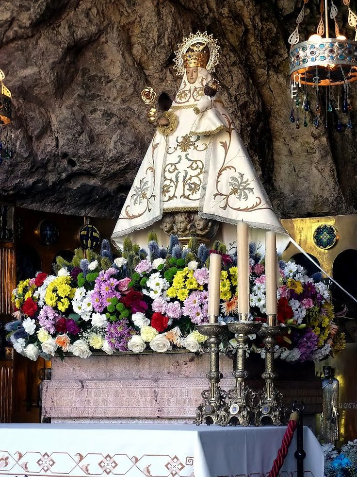 Virgen de Covadonga, Patrona de Asturias, Covadonga, Cangas de Onis, Asturias, España